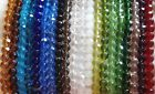 QUALITY GLASS BEADS - FACETED - ROUND - 8 mm - 1 Strand -  #F8