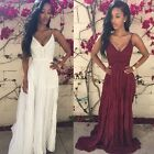 Women Summer Vintage Boho Long Maxi Evening Party Beach Dress Party Sundress TXW