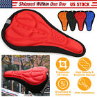Outdoor Cycling Bicycle Silicone Bike Seat Cover Cushion Soft 3D Soft Paded