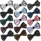 Coachella Ties Adjustable Adults Plaids Jacquard Butterfly Bowtie Party Bow Tie