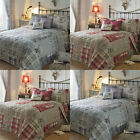 Dreams 'N' Drapes Tatton Patchwork Reversible Quilted Bedspread, 195 x 229 Cm
