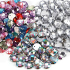 100pcs CLEAR ROUND SEW-ON ACRYLIC DIAMONDS BUTTON MANY COLORS