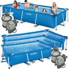 Intex Family Schwimmbad Swimming Pool  Sandfilter Schwimmbecken Rechteck Frame