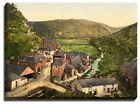Canvas Print Of boscastle, view from new road, cornwall