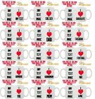 PERSONALISED I LOVE HEART YOU TEA COFFEE CUP MUG GIFT VALENTINE DAY OCCASION