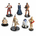 STAR WARS TFA RESISTANCE 7 Loose Disney Figurines with General Leia Organa
