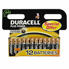 Duracell Plus Power Batteries AAA x12 MN2400B12 - Choose Amount