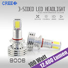 9006 120 Watts 12400LM CREE LED Fog Lights Kit Bulbs White High Power