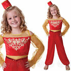 GIRLS ARABIAN PRINCESS FANCY DRESS COSTUME CHILDS ALADDIN BOLLYWOOD NEW OUTFIT