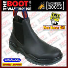 Mongrel 916020 Work Boots. Non Safety, Black Oil Kip. Elastic Sided. Brand New!