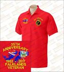 FALKLANDS VETERAN Embroidered Polo Shirts
