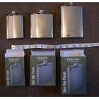 Jack Pyke of England Stainless Steel Hip Flask with Captive Screw Lid.