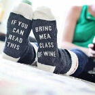 2017 Funny Socks Wine Socks If You Can Read This Bring Me A Glass Of  Wine Beer