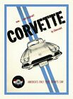 VINTAGE 1958 CHEVROLET CORVETTE AUTOMOBILE ADVERTISEMENT A3 POSTER REPRINT