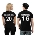 """UINK - Customizable Matching Couple T- Shirt """"Together Since ____"""""""