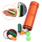 Waterproof CNC Keyring EDC Survival Pill/Match Case Box Container Lid Aluminum