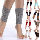 Womens Girls Winter Leg Warmer Crochet Knitted Shoes Boot Socks Toppers HOT