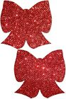 Glittering Red Bow Nipple Pasties by Pastease o/s