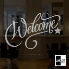 WELCOME Frosted or White Vinyl Cut Window Glass  Decal Stickers Shop