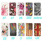 Wallet Flower Design Stand Leather Case Cover For Alcatel One Touch Pop C9 7047D