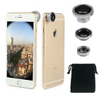 Universal Cell Phone Camera Lens Kit Wide Angle Fish Eye Macro for iPhone XR XS