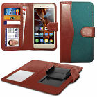 For Apple iPhone 3GS - Fabric Mix Clip Function Wallet Case Cover