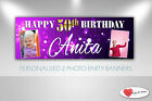 Personalised 2 - Photo Party Banner Birthday, Christening, Baptism, Banners