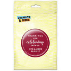 Maroon Line Thank You Celebrating Us Personalized Refrigerator Button Magnet