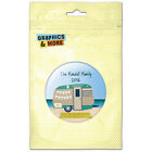 Happy Camper Trailer Beach Camping Personalized Refrigerator Button Magnet