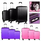 "3 Pcs ABS Luggage Spinner 20""24""28"" Set Travel Bag Wheels Suitcase Coded Lock"