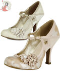 RUBY SHOO YASMIN metallic OCCASION wedding SHOES party heels ROSE GOLD CREAM