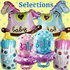 SELECTIONS BABY GIRL BOY SHOWER Foil Balloons Decor Birthday Party Supply lot MW