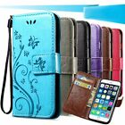 Butterfly Leather Wallet Soft Protective Phone Case Cover For Samsung LG Google
