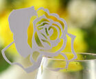 White Flower Place Cards For Glass Laser Cut Wedding HIGH QUANTITY