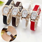 Gold Metal Dress Women Watch Ladies Watch Small Leather Strap Wristwatches
