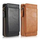Genuine Leather Removable Wallet Flip Phone Case Cover for iPhone 6 6s 7 Samsung