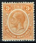 British Honduras 1933 3c Orange SG129 Fine Lightly Mtd Mint