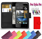 PU Magnetic Wallet Flip Leather Book Case Cover Holder Fits For HTC Phones UK