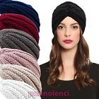 Turban woman retro cap band lurex hat knitted jersey new KT2