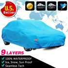 9 Layer Car Cover Outdoor Waterproof Sun UV Snow Rain Dust Resistant with Lock