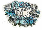 Roxy Sticker - Wave & Flower Decal Surf Skate Snow Board Car Bumper Surfboard