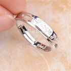"925 Sterling Silver ""I LOVE YOU 1314"" Engraved Crystal Open Couple Ring C1213"
