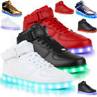 USB Unisex High Top LED Light Lace Up Sportswear Sneaker Luminous Shoes Casual