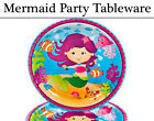 Mermaid Party Tableware - Plates, Napkins, Cups & Tablecover
