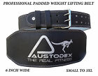 Weight lifting bodybuilding back support weightlifting Leather Belt 6""