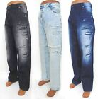 Men SOUTHPOLE Black Blue BIG & TALL Ripped Acid Slim Straight Jeans 17127-3105