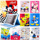 Cartoon Cute Pattern Pu Leather Folio Cover Case For Ipad 2 3 4 Air 2 Mini 2 3 4