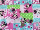 Disney MINNIE MOUSE Patch on PINK : 100% cotton fabric by the 1/2 metre
