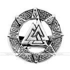 Punk Men's 316L Stainless Steel Valknut knot Wide Finger Ring Jewelry US9-13