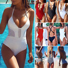 Brazilian Lady One Piece Monokini Bikini Push Up Padded Bra Swimsuit Swimwear FO
